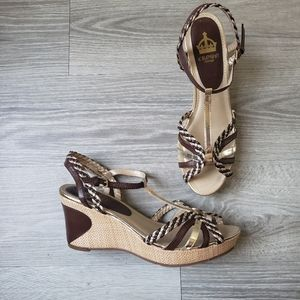 Crown Vintage Strappy Wedges